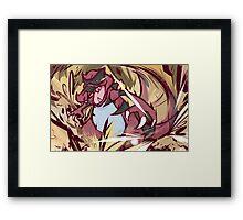 Krookodile | Bulldoze Framed Print
