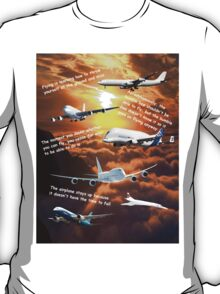 Planes in a cloudy sunset sky T-Shirt