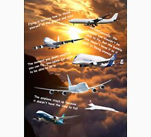 Planes in a cloudy sunset sky Unisex T-Shirt