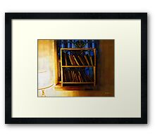 The Pastor's Bookshelf Framed Print