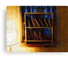 The Pastor's Bookshelf Canvas Print