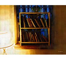 The Pastor's Bookshelf Photographic Print