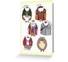 Food Truck Hedgehog Gets Dressed P.1 Greeting Card