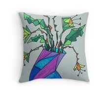 Daffodils in Vase Throw Pillow