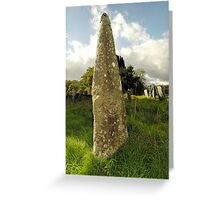 Nettasagrus Stone at the Church of St. David, Bridell, Wales Greeting Card