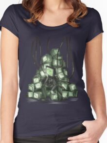Damaged  Women's Fitted Scoop T-Shirt