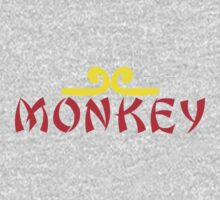 MONKEY with headband One Piece - Long Sleeve