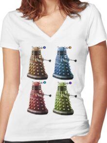 Daleks Women's Fitted V-Neck T-Shirt
