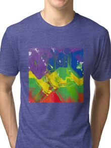 """Energetic Abstractions - """"Colour Wave"""" Tri-blend T-Shirt"""