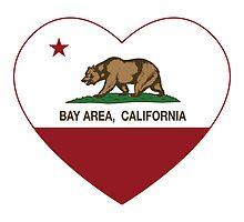 Bay Area California Love Heart  by NorCal