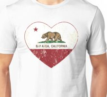Bay Area California Love Heart Distressed Unisex T-Shirt