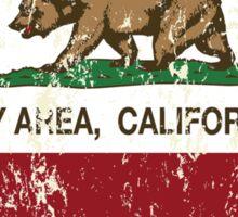 Bay Area California Love Heart Distressed Sticker