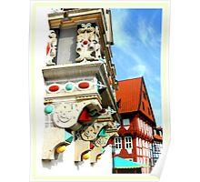 Bad Gandersheim ~ Architectural detail Poster