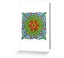 Fire Renewal Mandala Celtic Knot Greeting Card