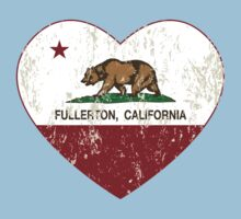 Fullerton California Love Heart Distressed Kids Clothes