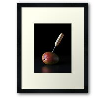 I Hate Fruit - Mango Framed Print