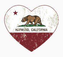 Hayward California Love Heart Distressed T-Shirt