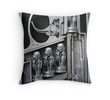 H. R. Giger Museum - Entrance Statue. Gruyeres, Switzerland Throw Pillow