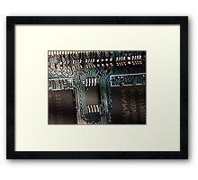 ©HS Nano Tracks IA Framed Print