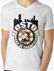 Boston Made OF Champions Mens V-Neck T-Shirt