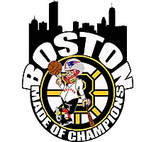 Boston Made OF Champions Photographic Print