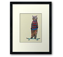 the cat skate  Framed Print
