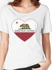 Moreno Valley California Love Heart  Women's Relaxed Fit T-Shirt