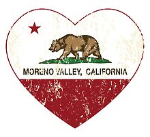 Moreno Valley California Love Heart Distressed by NorCal