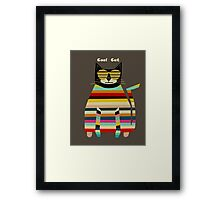 the cool cat  Framed Print