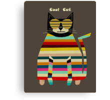 the cool cat  Canvas Print