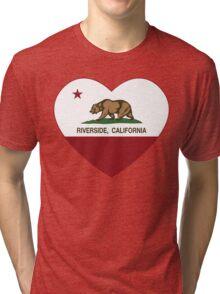 Riverside California Love Heart  Tri-blend T-Shirt