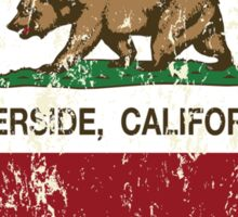 Riverside California Love Heart Distressed Sticker