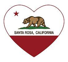 Santa Rosa California Love Heart  by NorCal