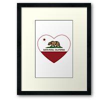 Santa Rosa California Love Heart  Framed Print
