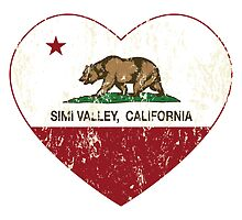 Simi Valley California Love Heart Distressed by NorCal
