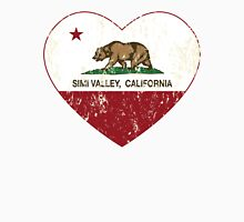 Simi Valley California Love Heart Distressed Unisex T-Shirt