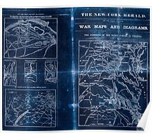 Civil War Maps 1909 War maps and diagrams Inverted Poster