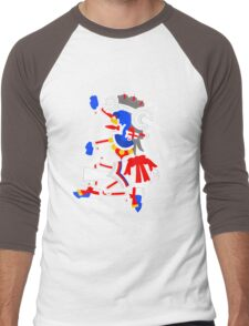 Mictlantecuhtli Men's Baseball ¾ T-Shirt