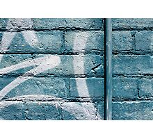 cerulean wall I Photographic Print
