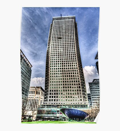 Canary Wharf Tower London Poster