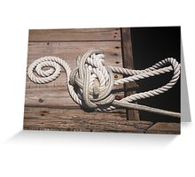 Rope on Dock Greeting Card