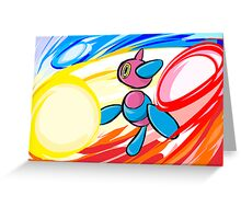 Porygon-Z | Tri-Attack Greeting Card