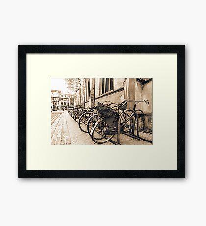 Vintage Bikes Framed Print