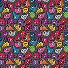 Funny colored skulls by EV-DA