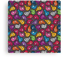 Funny colored skulls Canvas Print