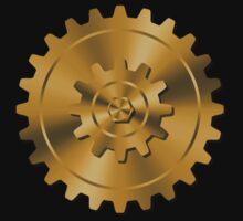Golden Gears - Steampunk by Jenny Zhang