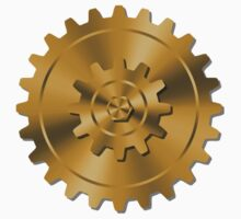 Golden Gears - Steampunk Kids Tee