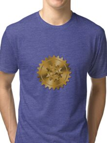 Golden Gears - Steampunk Tri-blend T-Shirt