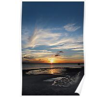 Vertical Feather Sunset Poster