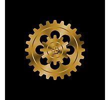 Golden Gears - Steampunk Photographic Print